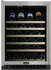 "24"" Wine Cellar with 45-Bottle Capacity Including Magnum Bottles, 4 Slide Out Racks, Inclined Display Rack, Display Lighting, Electronic Controls and Door Lock: Requires Full Custom Panel, Left Hinge"