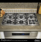 36 Inch Gas Cooktop with 5 Sealed Burners, Automatic Reignition, Illumina Burner Controls and 2-12 Inch & 1-10 Inch Platform Grates: Stainless Steel/Natural Gas/High Altitude