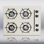 "24"" Gas Cooktop with 4 Open Burners and Electronic Ignition: Bisque"