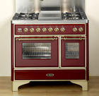 "40"" Traditional-Style Dual Fuel Range with 4 Sealed Burners, 2.44 cu. ft. Convection Main Oven, Rotisserie, Coup de Feu Top and Warming Drawer: Emerald Green"