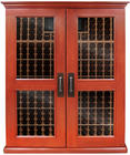 "79"" 800-Model Wine Cabinet with 610-Bottle Capacity, Wine-Mate Cooling System, Redwood Racks, Cornice/Base and Digital Temperature Control"