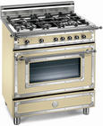 "30"" Traditional-Style Gas Range with 4 Sealed Burners, 2.9 cu. ft. European Convection Oven, Manual Clean and Storage Drawer: Matte Cream, Natural Gas"