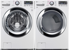 LG 3370 Series Front Load Washer + Dryer Pair