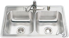 Houzer Double Bowl Kitchen Sink 33229BS41