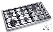 "Bertazzoni 36"" Sealed Burner Gas Cooktop D36600X"
