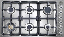 "Bertazzoni 36"" Sealed Burner Gas Cooktop DB36600X"
