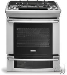 "Electrolux Wave-Touch 30"" Slide-In Dual Fuel Range EW30DS75KS"