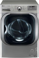 LG SteamDryer 9 Cu. Ft. Electric Front Load Dryer DLEX8000