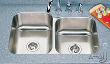 Houzer Double Bowl Kitchen Sink EC3208SR1