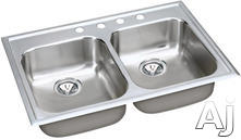 Elkay Double Bowl Kitchen Sink EG33221
