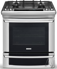 "Electrolux IQ-Touch 30"" Slide-In Dual Fuel Range EI30DS55JS"