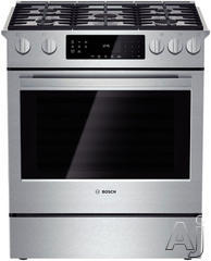 "Bosch 30"" Slide-In Gas Range HGI8054UC"
