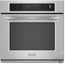 "KitchenAid 27"" 27"" Electric Wall Oven KEBK171S"