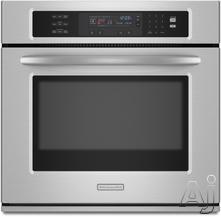 "KitchenAid 27"" 27"" Single Electric Wall Oven KEBS177S"