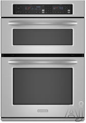 "KitchenAid Architect II 30"" Double Electric Combination Wall Oven KEMS308SSS"