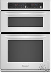 "KitchenAid Architect II 30"" Double Electric Combination Wall Oven KEMS308SWH"