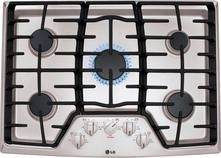"LG 30"" Sealed Burner Gas Cooktop LCG3011ST"