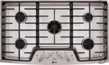 """LG 36"""" Sealed Burner Gas Cooktop LSCG366ST"""