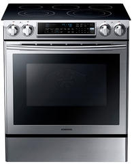 "Samsung 30"" Slide-In Electric Range NE58F9500SS"