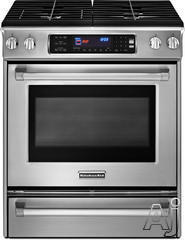 "KitchenAid 30"" Slide-In Gas Range KGSS907XSP"