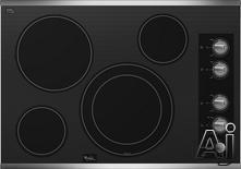 "Whirlpool 30"" Smoothtop Electric Cooktop G7CE3034X"