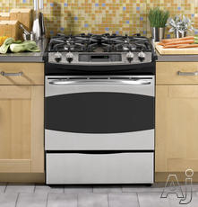 "GE 30"" Slide-In Gas Range PGS968DEP"