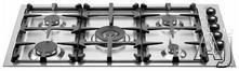 "Bertazzoni 36"" Sealed Burner Gas Cooktop Q36500X"