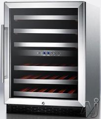 """Summit 24"""" Built In Wine Cooler SWC530LBISTADAX"""