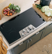 "GE Profile CleanDesign 36"" Electric Cooktop PP962"