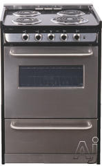 "Summit 24"" Slide-In Electric Range TEM610BRWY"