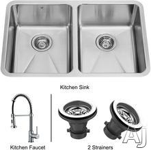Vigo Industries Double Bowl Kitchen Sink VG14003