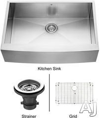 Vigo Industries Single Bowl Kitchen Sink VG3320CK1