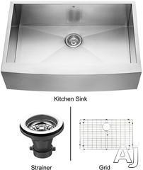 Vigo Industries Single Bowl Kitchen Sink VG3320CK1