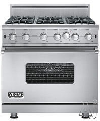 "Viking 36"" Freestanding Gas Range VGIC5366BX"