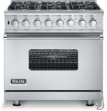 "Viking Professional Custom 36"" Freestanding Gas Range VGSC5366BX"