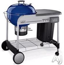 "Weber 1428001 22.5"" Charcoal Grill with 363 sq. in. Cooking Area, Plated Steel Hinged Cooking Grate, Touch-N-Go Gas Ignition System, Weather-Protected CharBin Storage Container and High-Capacity Ash Catcher: Dark Blue"