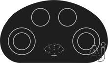 "Caldera Dial 2 36"" Electric Cooktop CACMT364E"