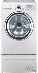 "LG SteamWasher 27"" Electric Front Load Washer Dryer Combo WM3988HWA"
