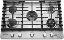"KitchenAid 36"" Sealed Burner Gas Cooktop KCGS956ESS"
