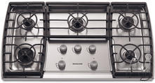 "KitchenAid 36"" Sealed Burner Gas Cooktop KGCC766RSS"