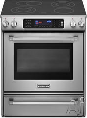 "KitchenAid 30"" Slide-In Electric Range KESS907XSP"