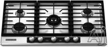"KitchenAid 36"" Sealed Burner Gas Cooktop KFGU766VSS"