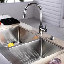 Kraus Kitchen Combo Sink & Faucet Combination KHF20333KPF1622KSD30CH