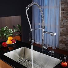 Kraus Kitchen Combo Sink & Faucet Combination KHU10032KPF1602KSD30CH