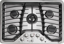 "GE 30"" Sealed Burner Gas Cooktop PGP959SETSS"