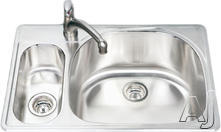 Houzer Double Bowl Kitchen Sink PMG3322SL1