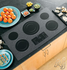 """GE 36"""" Smoothtop Electric Cooktop PP975WMWW"""