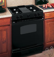 "GE 30"" Slide-In Gas Range JGSS05DEMBB"