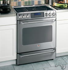 "GE Cafe 30"" Freestanding Electric Range CS980SNSS"