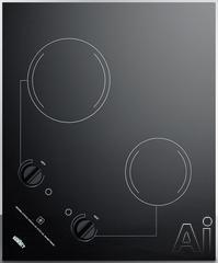 """Summit 21"""" Electric Cooktop CR2B121"""